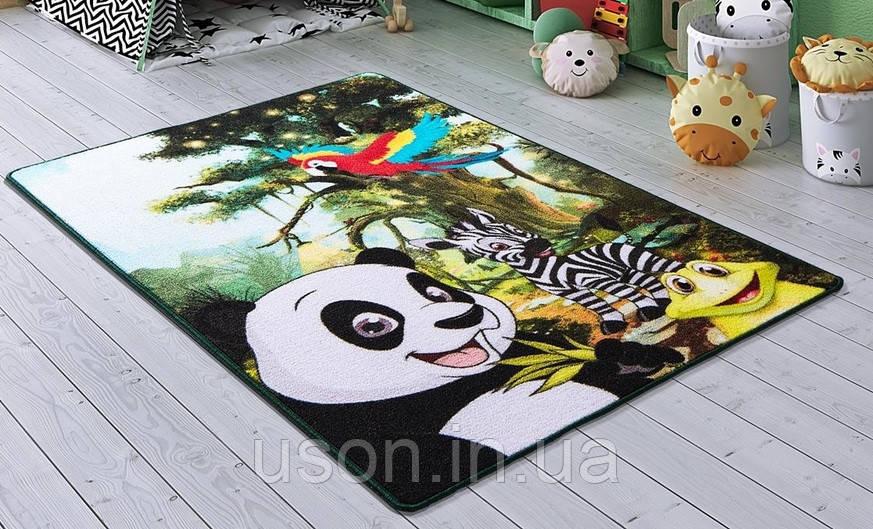 Напольный коврик в детскую комнату Confetti 100*150 Selfie зеленый