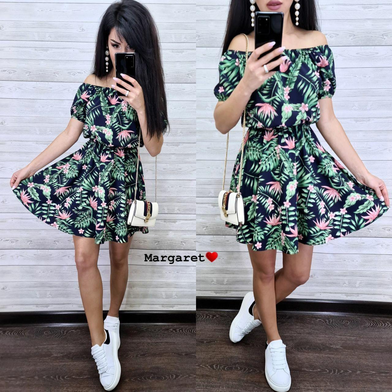 Стильное женское платье с цветочным принтом