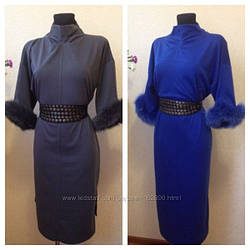 Платье женское с натуральным мехом