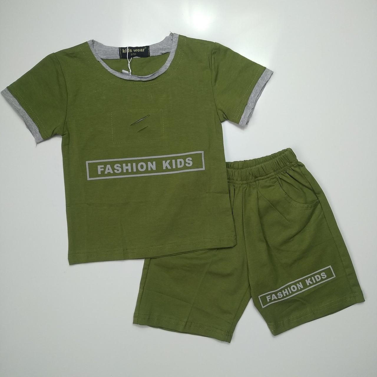 Летний костюм для мальчика Pelin Kids Хаки р. 92, 104