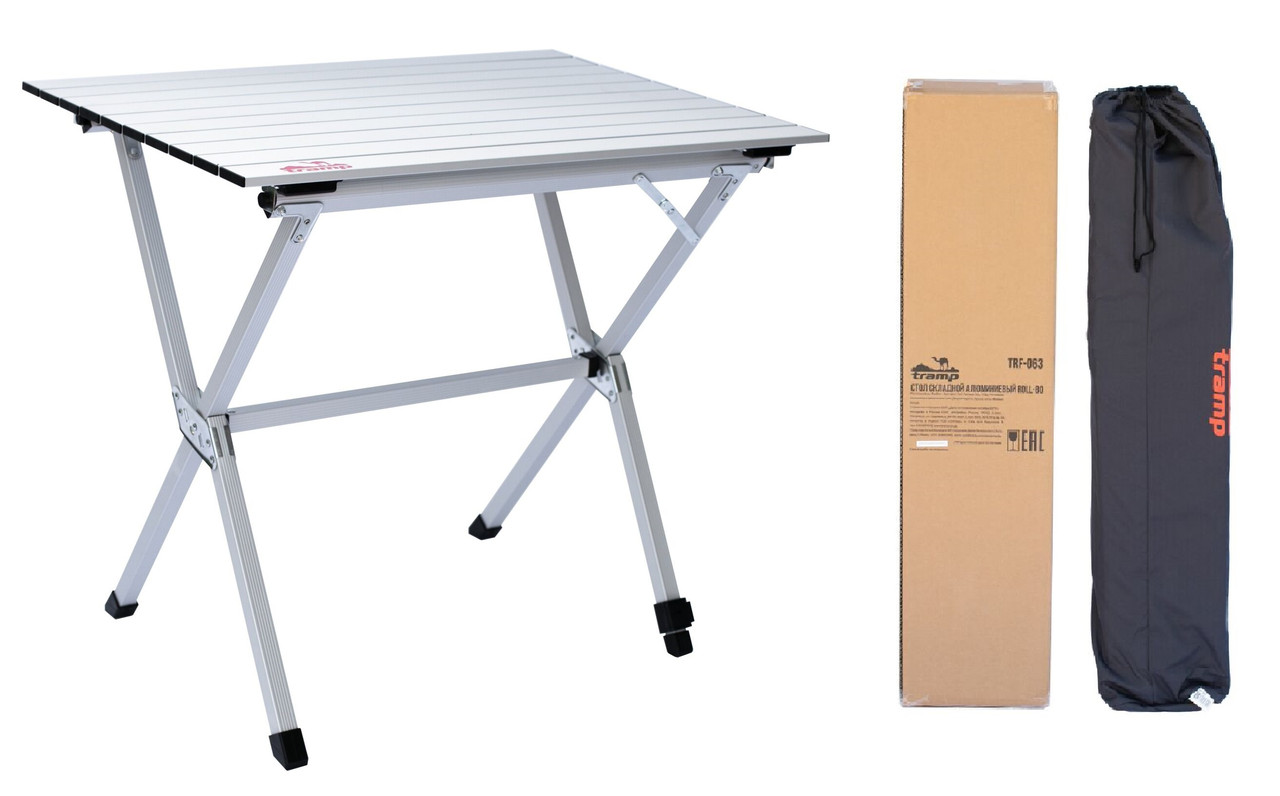 Складаний стіл з алюмінієвою стільницеюTramp Roll-80 (80x60x70 см) TRF-063