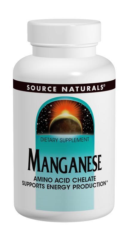 Марганец 10мг, Source Naturals, 250 таблеток