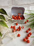 Круглые бусины оранжевого цвета из дерева, 60 шт,  диаметр - 0,8 см., 15 гр., фото 3