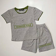 Літній костюм для хлопчика Pelin Kids Сірий р. 116