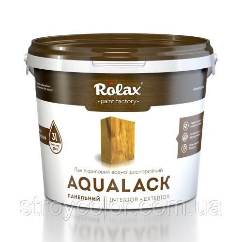 Лак акриловый полу-глянцевый панельный AQUALACK Rolax 3л (ролакс аквалак)