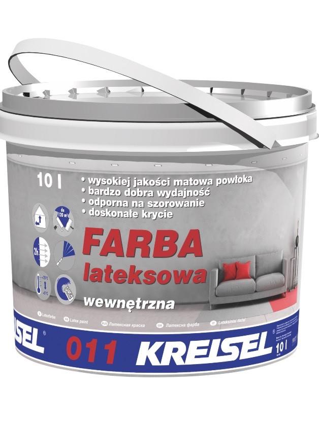 КREISEL FARBA LATEKSOWA 011 Фарба внутрішня латексна матова База (10кг)