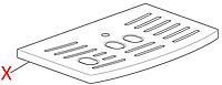 7013211031 Решітка піддону(ECAM), DeLonghi