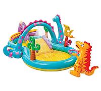 """Надувной игровой центр """"Планета динозавров"""" с бассейном и горкой Диноленд"""