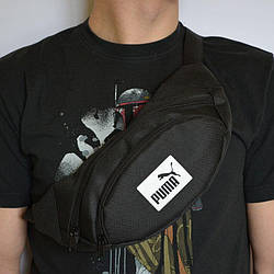 Поясная сумка Бананка барсетка пума Puma Черная ViPvse