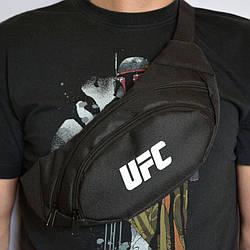 Поясная сумка Бананка барсетка юфс UFC Черная ViPvse