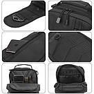 Черная тактическая сумка-рюкзак, барсетка на одной лямке + USB выход. T0445 Vsem, фото 4