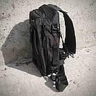 Черная тактическая сумка-рюкзак, мессенджер, барсетка. TOPvse, фото 4