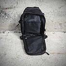 Черная тактическая сумка-рюкзак, мессенджер, барсетка. TOPvse, фото 6