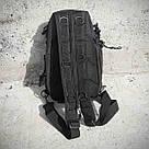 Черная тактическая сумка-рюкзак, мессенджер, барсетка. TOPvse, фото 7