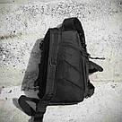 Черная тактическая сумка-рюкзак, мессенджер, барсетка. TOPvse, фото 9
