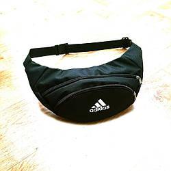 Черная Поясная сумка Бананка барсетка Адидас adidas ViPvse