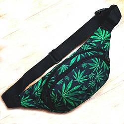 Поясная сумка Бананка барсетка конопля Cannabis ViPvse