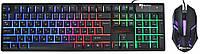 Usb проводная компьютерная клавиатура мышка Ukc HK-6300TZ с Rgb подсветкой (6944)
