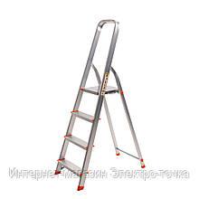 Лестница стремянка алюминиевая 4 х ступенчатая Laddermaster Alcor A1A4 высота 1.38 м ширина 0.42 м 3,8 кг