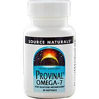 Омега-7, Provinal Omega-7, Source Naturals. 30 капсул