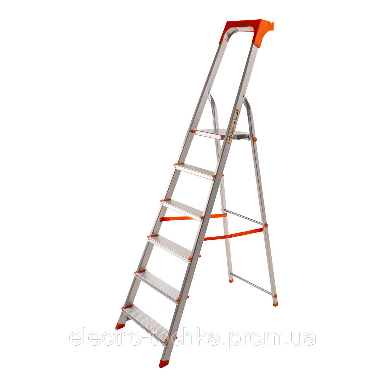 Професійна алюмінієва стрем'янка 6 ступенів Laddermaster Alcor A1AT6
