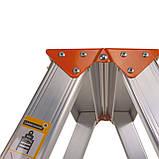 Стремянка двусторонняя алюминиевая Laddermaster Polaris A5A8. 2x8 ступенек, фото 5