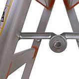 Стремянка-табурет алюминиевая Laddermaster Capella A5B2. 1 ступенька, фото 2