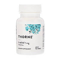 Фолиевая Кислота, Метилфолат, 5-MTHF, Thorne Research, 1 мг, 60 капсул