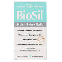 BioSil, Активатор Коллагена, Collagen Generator, Natural Factors, 60 вегетарианских капсул