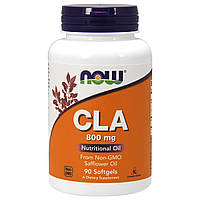 Конъюгированная Линолевая Кислота (CLA) 800 мг, Now Foods, 90 желатиновых капсул