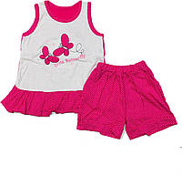 Летний костюм для девочки, 1-4 года