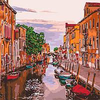 Картина за номерами 40х40 см Венеціанський вечір. Ідейка.