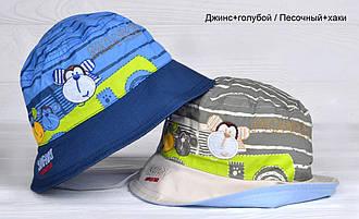 Панамка Обезьянка для мальчиков  размер  48-50 ( 2-3 года)  цвет песочный\хаки