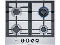 Варочная поверхность Bosch PCH6A5B90R (газ контроль, электроподжиг, конфорка WOK, чугунные решетки)
