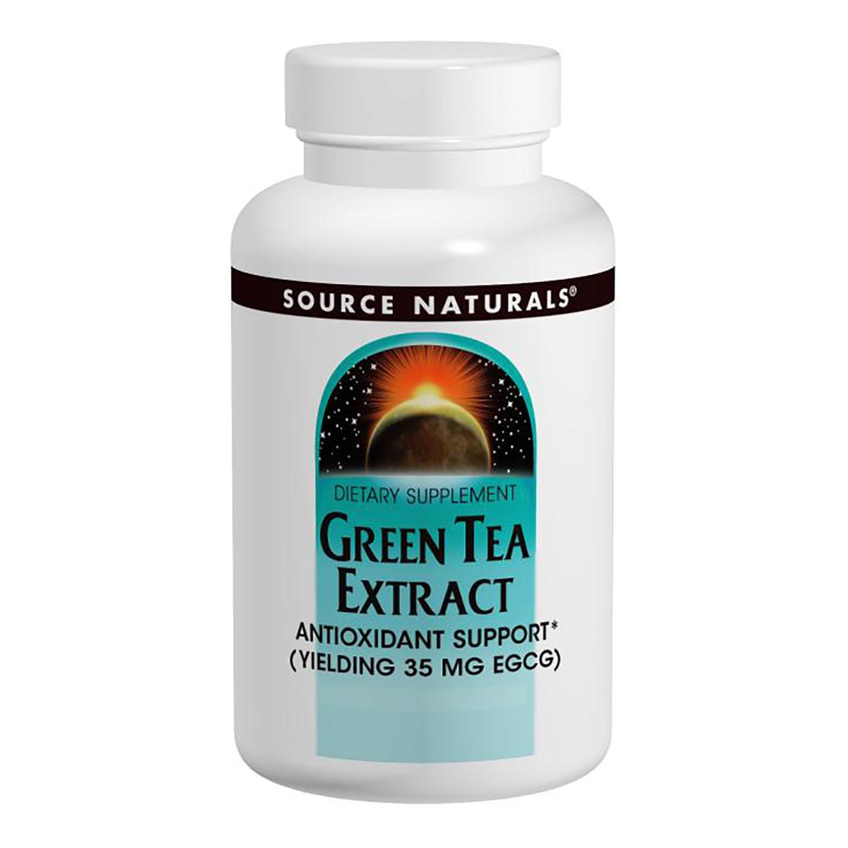 Экстаракт Листьев Зеленого Чая 500мг, Source Naturals, 120 таблеток