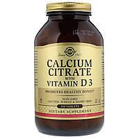 Цитрат Кальция + Витамин D3, Calcium Citrate with Vitamin D3, Solgar, 240 таблеток