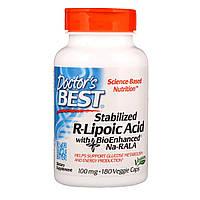 R-Липоевая Кислота, R-Lipoic Acid, Doctor's Best, 100 мг, 180 капсул