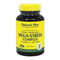 Комплекс для Борьбы со Стрессом и Поддержания Энергии, Mega-Stress, Natures Plus, 60 таблеток