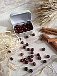 Дерев'яні бусіни вишнево-коричневого кольору, 60 шт,  діаметр - 0,8 см., 15 грн., фото 4