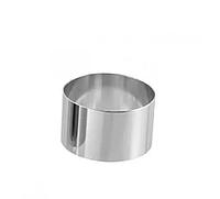 Форма кондитерская Lacor круглая нержавейка (d-8, h-3,5 см)