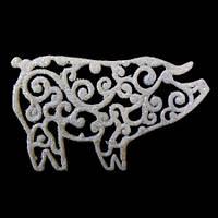 Украшение Свинка ажурная 107см (уп 10шт)