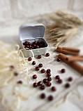 Дерев'яні бусіни вишнево-коричневого кольору, 60 шт,  діаметр - 0,8 см., 15 грн., фото 2