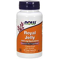 Маточное Молочко 1500 мг, Royal Jelly, Now Foods, 60 гелевых капсул