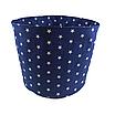 Мешок (корзина) для хранения, Ø45 * 40 см, (хлопок), с отворотом (звездочки на синем / звездочки на синем), фото 2