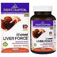 Поддержка Печени, Lifeshield Liver Force, New Chapter, 60 капсул