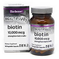 Биотин, 10 000 мкг, Beautiful Ally, Bluebonnet Nutrition, 90 вегетарианских капсул