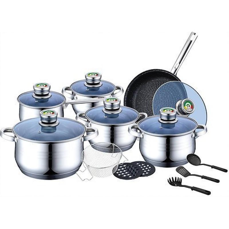 Набор посуды с нержавеющей стали Bohmann BH MC-2019 18 предметов