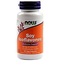 Соевые Изофлавоны, Soy Isoflavones, Now Foods, 60 капсул