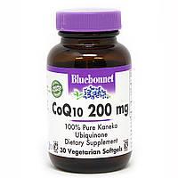 Коэнзим Q10 200мг, Bluebonnet Nutrition, 30 вегетарианских капсул