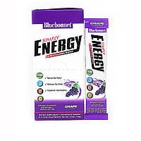 Энергетический напиток в порошке, Вкус Винограда, Bluebonnet Nutrition, Simply Energy, 14 пак. х 10 г